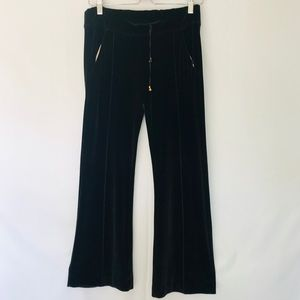 Roberto Cavalier Wellness velvet black pants